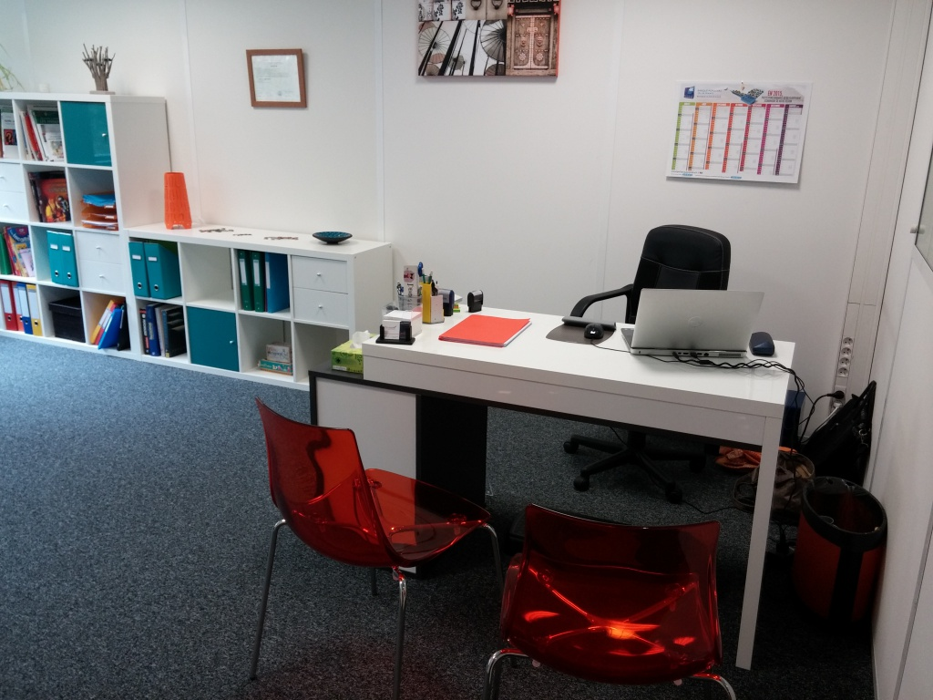 Le bureau double meuble en bois massif anders paris