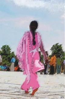 Femme en Inde. © Serge Nouchi